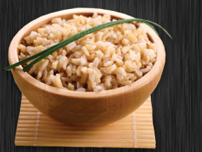 steamed healthy brown rice
